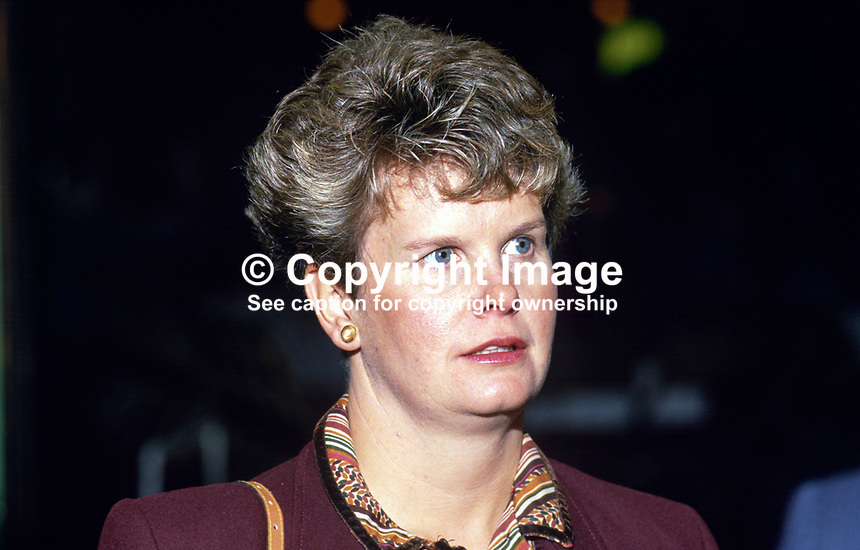 Janet Dunn, wife of Robert Dunn, MP,, Conservative Party, UK, 19871029JD..Copyright Image from Victor Patterson, 54 Dorchester Park, Belfast, UK, BT9 6RJ..Tel: +44 28 9066 1296.Mob: +44 7802 353836.Voicemail +44 20 8816 7153.Skype: victorpattersonbelfast.Email: victorpatterson@me.com.Email: victorpatterson@ireland.com (back-up)..IMPORTANT: If you wish to use this image or any other of my images please go to www.victorpatterson.com and click on the Terms & Conditions. Then contact me by email or phone with the reference number(s) of the image(s) concerned.