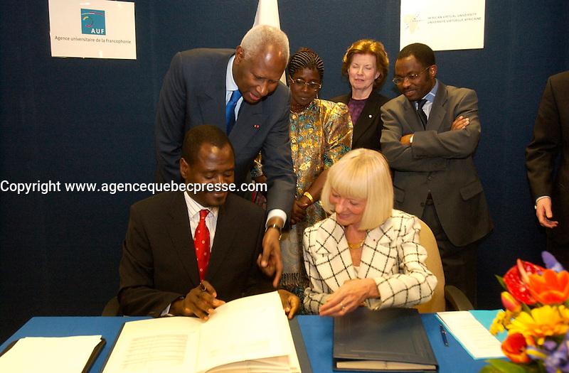 Abou Diouf,  Secretaire General de la Francophonie and former President of Senegal<br /> photo by Sevy / (c) : Images Distribution
