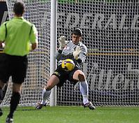 KV Kortrijk - AA Gent.Glenn Verbauwhede met een redding.foto VDB / BART VANDENBROUCKE