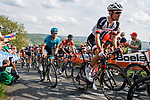 The peleton including Tom Dumoulin (NED) Team Sunweb climb Le Redoute during the 2018 Liège - Bastogne - Liège (UCI WorldTour), Belgium, 22 April 2018, Photo by Thomas van Bracht / PelotonPhotos.com