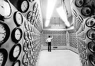 India, Trombay. March 29th 1975, the Main Control of The Atomic Generator Plant.