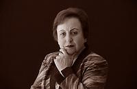 Shirin ʿEbādi, è un avvocato e pacifista iraniana. Il 10 dicembre 2003 le fu conferito il Premio Nobel per la pace, fu la prima iraniana e la prima donna musulmana a ottenere questo riconoscimento. Torino Salone del Libro 2016. © Leonardo Cendamo