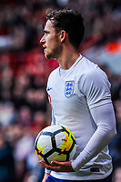 Leicester City's defender Ben Chilwell (3) for England U21's during the International Euro U21 Qualification match between England U21 and Ukraine U21 at Bramall Lane, Sheffield, England on 27 March 2018. Photo by Stephen Buckley / PRiME Media Images.