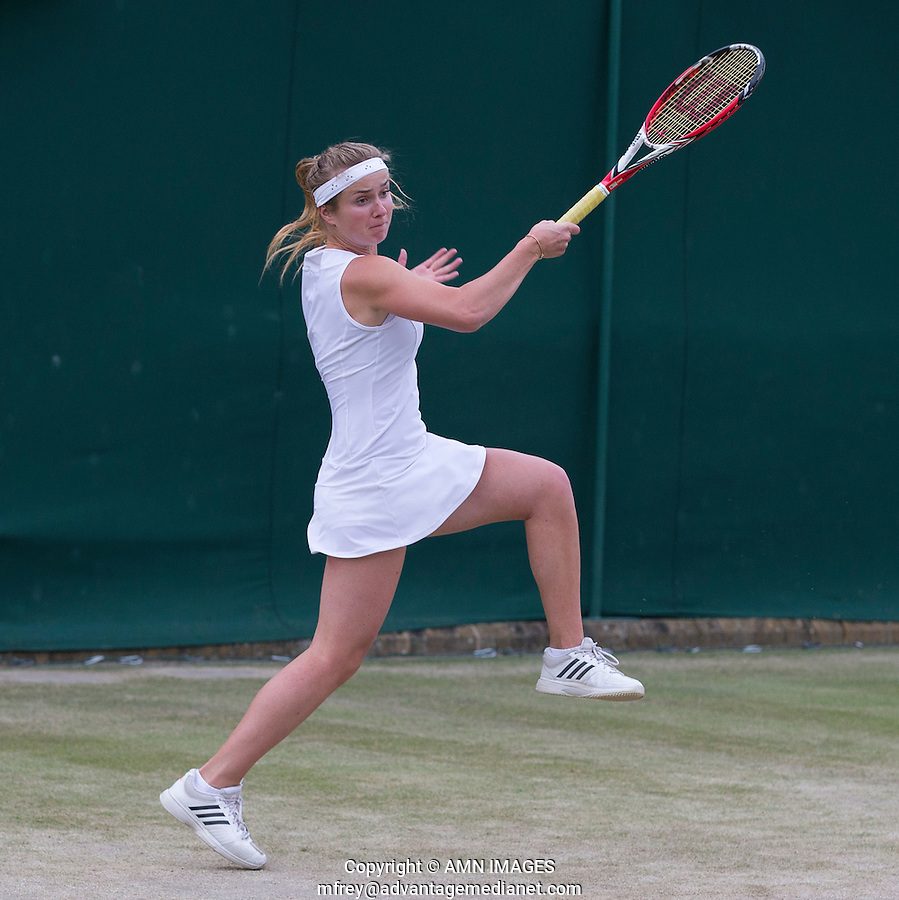 ELINA SVITOLINA (UKR)<br /> <br /> The Championships Wimbledon 2014 - The All England Lawn Tennis Club -  London - UK -  ATP - ITF - WTA-2014  - Grand Slam - Great Britain -  2nd July 2014. <br /> <br /> &copy; AMN IMAGES