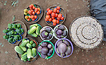 Fresh produce being sold in a market in Dedza, Malawi, along the border with Mozambique.