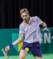 Rotterdam, Netherlands, 10 februari, 2018, Ahoy, Tennis, ABNAMROWTT, Qualifier, Nicolas Mahut (FRA)<br /> Photo: Henk Koster/tennisimages.com