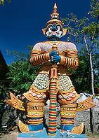 Thailand, island Ko Samui, peninsula Ko Fan: Big Buddha temple - Guardian