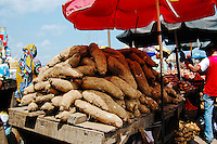 Nigeria - Yams on display for sale