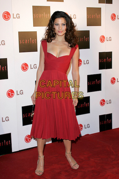 "NATASSIA MALTHE.""Scarlet"" - TV series launch, No. 1 Marylebone, Marylebone Road, London, England..April 30th, 2008.full length red dress .CAP/AH.©Adam Houghton/Capital Pictures."