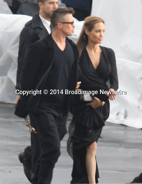 Pictured: Brad Pitt and Angelina Jolie<br /> Mandatory Credit &copy; Fernando Allende/Adriano Camolese/Broadimage<br /> Brad Pitt and Angelina Jolie signing authographs at the 2014 Independent Spirit Awards<br /> <br /> 3/1/14, Santa Monica, California, United States of America<br /> Reference: 030114_FALA_BDG_010<br /> <br /> Broadimage Newswire<br /> Los Angeles 1+  (310) 301-1027<br /> New York      1+  (646) 827-9134<br /> sales@broadimage.com<br /> http://www.broadimage.com