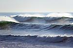 Backlit waves near Westport Landing