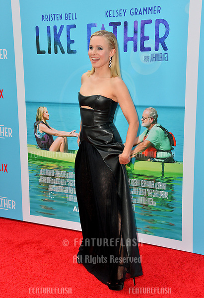 """Kristen Bell at the Los Angeles premiere of """"Like Father"""" at the Arclight Theatre, Los Angeles, USA 31 July 2018<br /> Picture: Paul Smith/Featureflash/SilverHub 0208 004 5359 sales@silverhubmedia.com"""