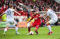 Billy Clifford of Crawley Town (18) (center)  during the Sky Bet League 2 match between Crawley Town and Luton Town at the Broadfield/Checkatrade.com Stadium, Crawley, England on 17 September 2016. Photo by Edward Thomas / PRiME Media Images.