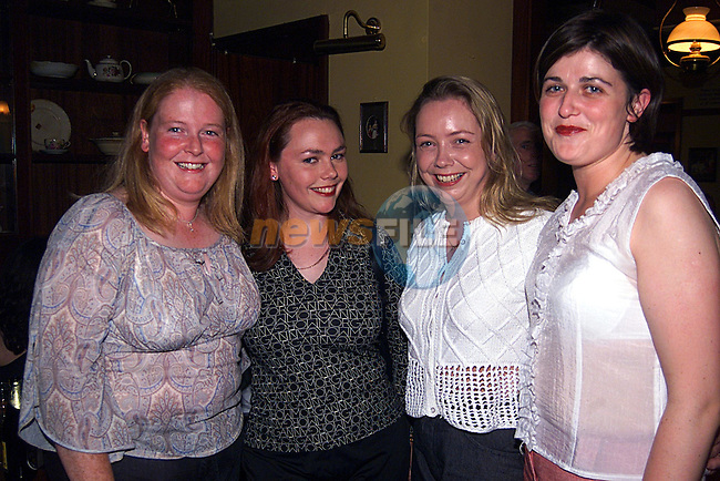 Ruth McArdle,Alison Lambe, Annette Branigan,and Fran Hodgins at The Sacret Heart School Reunion in The Westcourt Hotel...Pic Newsfile