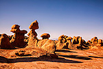Goblins -- better known as Hoodoos -- create scenic formations in Goblin Valley State Park in Utah
