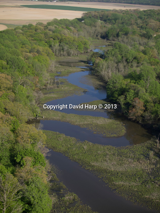 The upper Chester River, between Millington and Crumpton