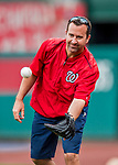 15 August 2017: Washington Nationals Head Athletic Trainer Dale Gilbert tosses some ball prior to a game against the Los Angeles Angels at Nationals Park in Washington, DC. The Nationals defeated the Angels 3-1 in the first game of their 2-game series. Mandatory Credit: Ed Wolfstein Photo *** RAW (NEF) Image File Available ***