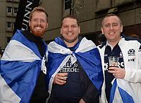 Scotland fans in good sprits prior to kick off <br /> <br /> Photographer Ian Cook/CameraSport<br /> <br /> Under Armour Series Autumn Internationals - Wales v Scotland - Saturday 3rd November 2018 - Principality Stadium - Cardiff<br /> <br /> World Copyright &copy; 2018 CameraSport. All rights reserved. 43 Linden Ave. Countesthorpe. Leicester. England. LE8 5PG - Tel: +44 (0) 116 277 4147 - admin@camerasport.com - www.camerasport.com