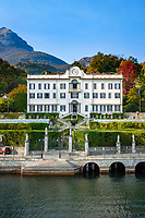 Italy, Lombardia, comunity Tremezzina - district Tremezzo: Villa Carlotta, a former summer residence (18th century) at Lake Como, today a museum | Italien, Lombardei, Gemeinde Tremezzina - Ortsteil Tremezzo: Villa Carlotta, eine ehemalige Sommerresidenz aus dem 18. Jahrhundert am Comer See, heute ein Museum
