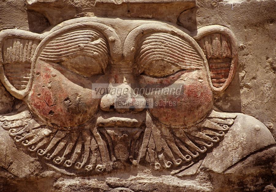 Afrique/Egypte/Dendérah: Le temple d'Hathor (déesse du ciel) - Détail