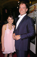 "EMILY BARCLAY & MATTHEW MacFADYEN.""In My Father's Den"" UK Premiere, London, .June 22nd 2005..half length pink dress halterneck bow.Ref: CAN.www.capitalpictures.com.sales@capitalpictures.com.©Can Nguyen/Capital Pictures"