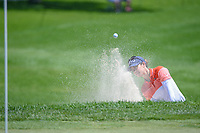 Azahara Munoz (ESP) hits from the trap on 10 during round 2 of the 2018 KPMG Women's PGA Championship, Kemper Lakes Golf Club, at Kildeer, Illinois, USA. 6/29/2018.<br /> Picture: Golffile | Ken Murray<br /> <br /> All photo usage must carry mandatory copyright credit (© Golffile | Ken Murray)