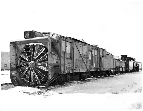 Left front view of C&amp;TS rotary snow plow OY.<br /> C&amp;TS  Antonito, CO  Taken by Payne, Andy M. - 3/1/1975