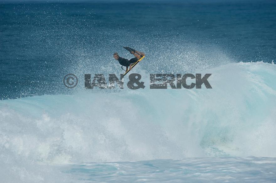 Jeff Hubbard (HAW) at Backdoor on the Northshore of Oahu in Hawaii.