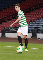 Eoghan O'Connell in the Dunfermline Athletic v Celtic Scottish Football Association Youth Cup Final match played at Hampden Park, Glasgow on 1.5.13. ..