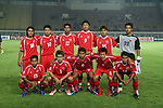 Players of Myanmar Team line up and pose for a photo prior to their AFF Suzuki Cup 2008 Group A match between Myanmar and Cambodia at Jalak Harupat Stadium on 09 December 2008, in Bandung, Indonesia. Photo by Stringer / Lagardere Sports