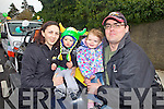 Helen O'Connor and Jayden Forde with Katie and Sean Forde from Templeglantine, pictured here at the annual St Patrick's Day parade in Abbeyfeale.