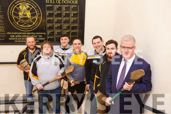 The Austin Stacks Hurling club members, who are launching a campaign to get more players involved and play the game at the clubrooms in Connolly Park on Monday night last.  L-r. Tadgh Meehan, Ger Scollard, Rob Byrne, Andrew Morrissey, Terry Desmond, Andrew Foley and Liam Lynch (Chairman Austin Stacks)