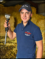 BNPS.co.uk (01202 558833)<br /> Pic: Graham Hunt/BNPS<br /> <br /> Away Win - Henry Mayo pictured at the family farm at Hermitage in Dorset.<br /> <br /> Plucky Henry Mayo has become the first Brit in nearly 30 years to win at the prestigious New Zealand Sheep Shearing Championships.<br /> <br /> Underdog Henry, from Dorchester, Dorset, sheared five sheep in 8 minutes 15 seconds to stun his Kiwi rivals.<br /> <br /> Despite the homegrown farmers being hot favourites the 20-year-old, who has only been shearing sheep for four years, took the junior title.<br /> <br /> It is the first time since 1991 that a British shearer has won at the prestigious championships.