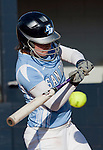 March 10, 2012:   San Diego Toreros Dana Prelsnik swings against the Nevada Wolf Pack  during their NCAA softball game played as part of the The Wolf Pack Classic at Christina M. Hixson Softball Park on Saturday in Reno, Nevada.