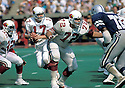 St. Louis Cardinals Dan Dierdorf (72) during a game from his career against the Dallas Cowboys.  Dan Dierdorf  played 13 seasons, all with the St. Louis Cardinals.  He was a 6-time Pro Bowler and was inducted to the Pro Football Hall of Fame in 1996