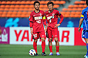 (L to R) Mitsuo Ogasawara (Antlers), Takuya Nozawa (Antlers), APRIL 19, 2011 - Football : AFC Champions League 2011 Group H, between Kashima Antlers 1-1 Suwon Samsung Bluewings at National Stadium, Tokyo, Japan. The game started at 2pm on Tuesday afternoon in Tokyo as Kashima are unable to use their home stadium as a result of the earthquake and tsunami that hit the east coast of Japan on March 11th 2011 and due to the ongoing nuclear crisis in Fukushima which has reduced the electricity supply to the region meaning that floodlit night games cannot be justified. (Photo by Jun Tsukida/AFLO SPORT) [0003]