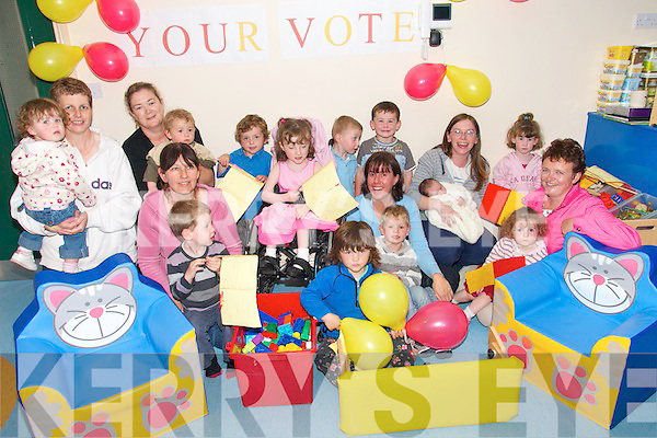 IN THE MONEY: Staff, parents and children at the Valentia Island Resource and Childcare Centre celebrate their EUR10,000 success in the AIB Better Ireland Programme at the Centre on Friday last..Front L/r. Mary Ellen Bolger, Barbara Linnane, Adam Casey, Rosemarie Quigley, Kevin O'Connor..Back L/r. Joanne O'Connor, Orla O'Shea, Derarca Lynch, Gilian Lynch, Brian Bolger, Hannah O'Sullivan, Oran McDonagh, Jack O'Brien, Caroline Heffernan, Keelin O'Shea, Megan Casey, Enda Lynch and Leeann O'Connor.   Copyright Kerry's Eye 2008