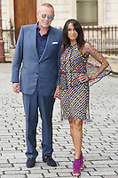 Carl Michaelson and Jackie St Clair (R) arrive for the VIP preview of the Royal Academy of Arts Summer Exhibition 2016