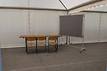 04.07.2019, Parkstadion, Zell am Ziller, AUT, TL Werder Bremen Zell am Ziller / Zillertal Tag 00<br /> <br /> im Bild<br /> Blick in weisses Zelt neben dem Trainingsplatz / Video-Analyse-Zelt, Feature, <br /> <br /> Foto © nordphoto / Ewert