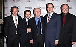 Peter Benson, Robert Creighton, Jim Norton, Gregg Edelman & Rupert Holmes attending the Broadway Opening Night Performance after party for 'The Mystery of Edwin Drood' at Studio 54 in New York City on 11/13/2012