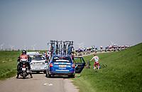 defending champion Fabio JAKOBSEN (NED/Deceuninck-Quick Step) is involved in a crash<br /> <br /> 107th Scheldeprijs (1.HC)<br /> One day race from Terneuzen (NED) to Schoten (BEL): 202km<br /> <br /> ©kramon