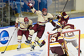 Barry Almeida (BC - 9), Bill Arnold (BC - 24), Chris Casto (Duluth - 5) - The Boston College Eagles defeated the University of Minnesota Duluth Bulldogs 4-0 to win the NCAA Northeast Regional on Sunday, March 25, 2012, at the DCU Center in Worcester, Massachusetts.