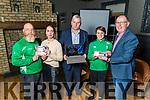 CBS school launch their €1,000aire fundraiser in the Ashe Hotel on Tuesday.<br /> L to r: Adrian O'Mahoney (Kingdom Tae Won Doe), Sarah Barry, Tom Shanahan, Ciara Griffin (Captain of the Ireland Ladies Senior Rugby Team) and Denis Coleman (Principal).