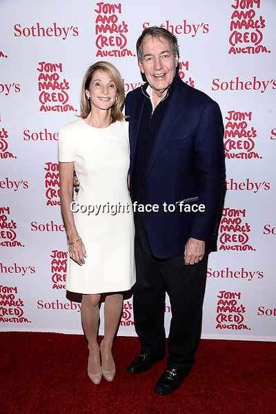 EW YORK, NY - NOVEMBER 23,2013: Amanda Burden and Charlie Rose pictured at Jony And Marc's (RED) Auction at Sotheby's on November 23, 2013 in New York City<br />