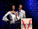 Sharon Washington and Forrest McClendon during the Vineyard Theatre Gala honoring Colman Domingo at the Edison Ballroom on May 06, 2019 in New York City.