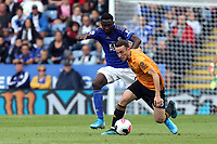 Ricardo Pereira of Leicester City and Diogo Jota of Wolverhampton Wanderers  during Leicester City vs Wolverhampton Wanderers, Premier League Football at the King Power Stadium on 11th August 2019
