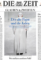 Pope Benedict XVI 'Die Zeit' German Magazine. 19 July, 2018. <br /> Photograph by Stefano Spaziani.