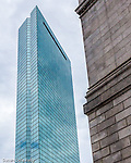 The John Hancock Tower near Copley Square, Boston, Massachusetts, USA