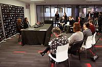 30.08.2018 Silver Ferns coach Noeline Taurua press conference in Auckland. Mandatory Photo Credit ©Michael Bradley.