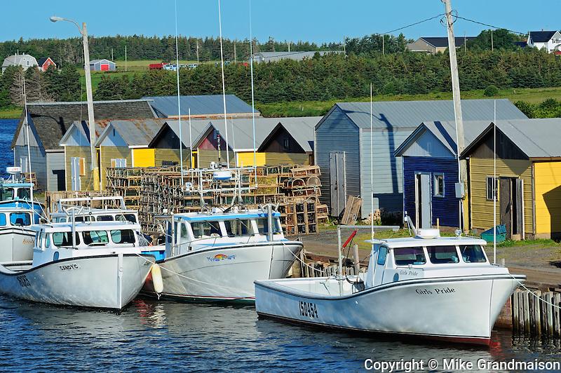 Fishing boats and shacks<br /> North Lake<br /> Prince Edward Island<br /> Canada